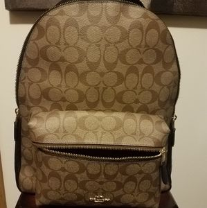 Authentic Coach Signature Large Charlie Backpack